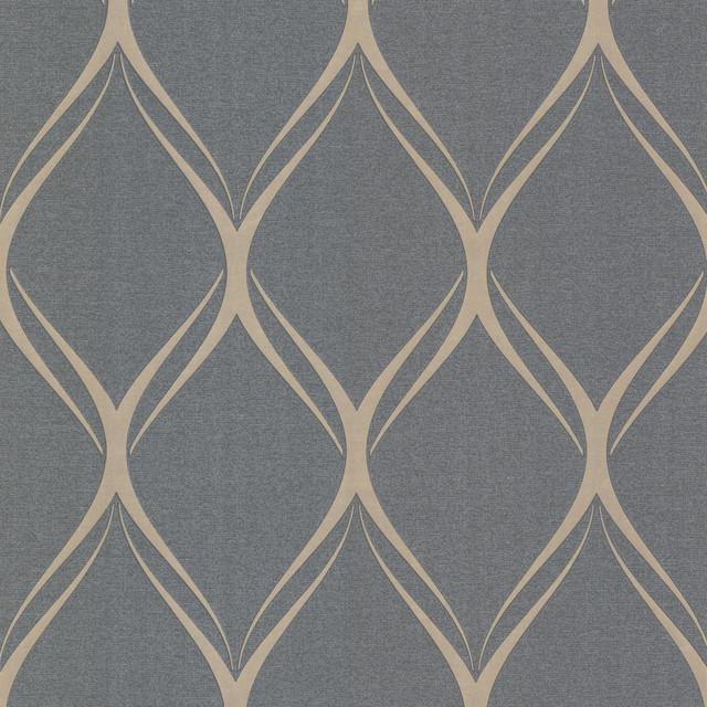 Platinum (decorline) Geometric Wallpaper, Bolt.