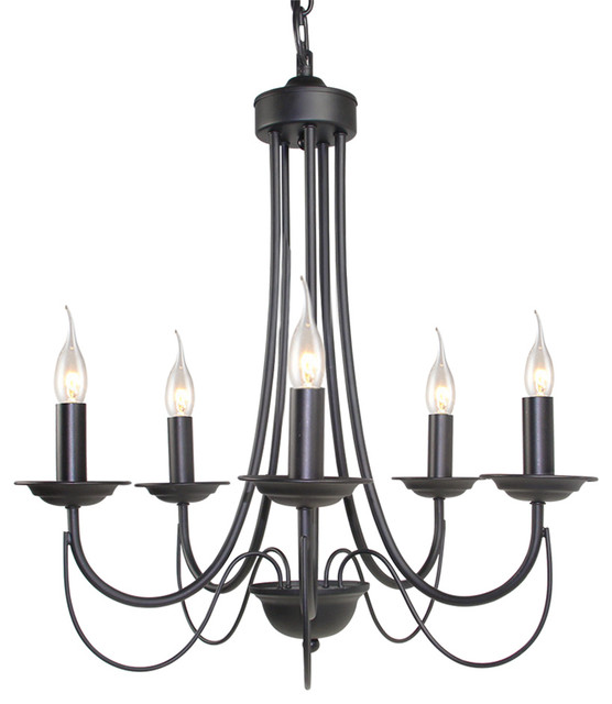 Lnc 5 light chandelier black iron view in your room houzz 5 light chandelier black iron transitional chandeliers aloadofball Images