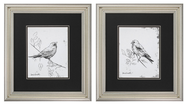 Song Bird Print, Set of 2