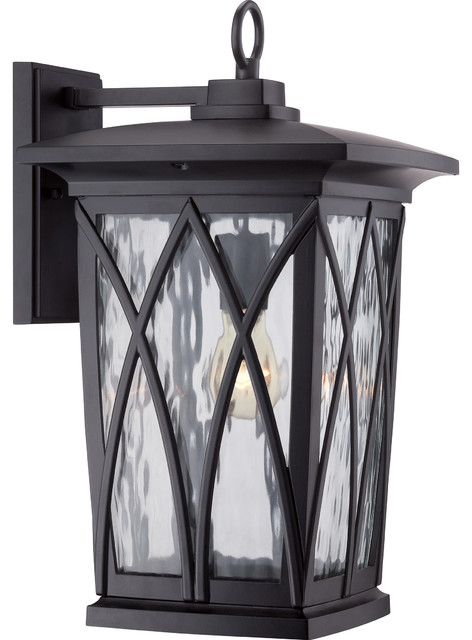 Quoizel Lighting Gvr8410k Grover Traditional Outdoor Wall Light In Mystic Black.