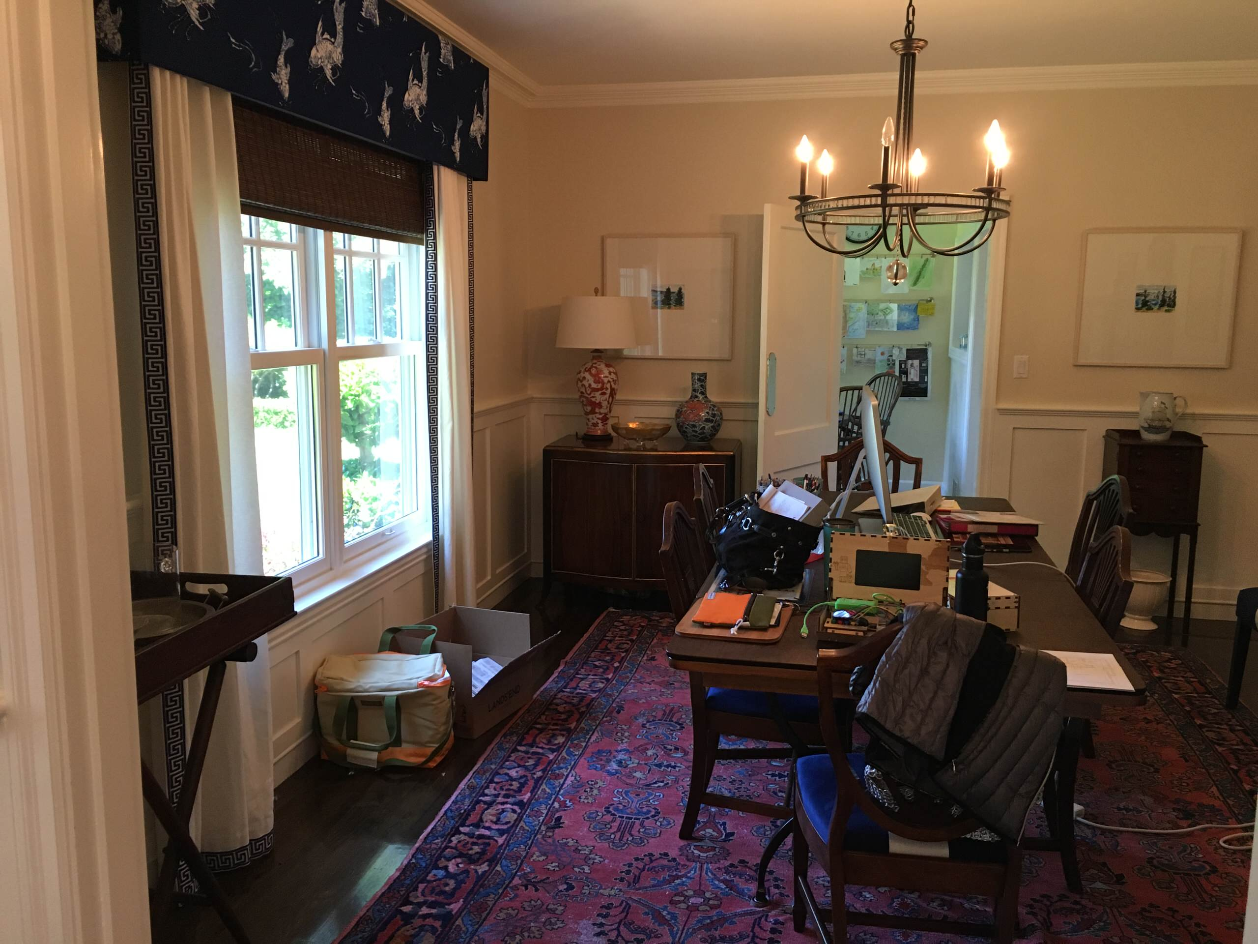 Colonial Revival - Before, dining room