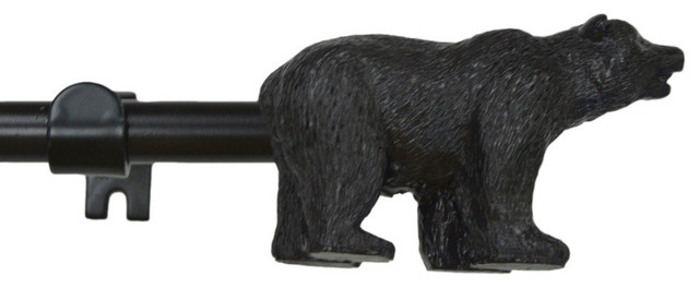 Urbanest Bronze 3 4 Quot Adjustable Curtain Rod With Bear