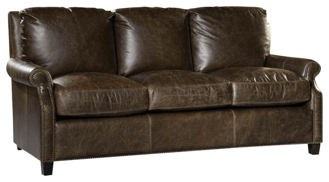 Brown Leather Sofa Nailhead Trim