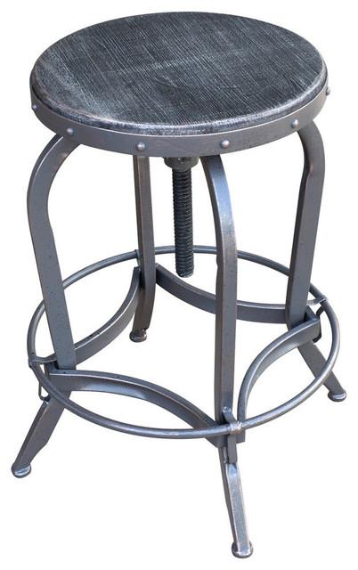 Astounding Gdf Studio Blake Reclaimed Swiveling Barstool Firwood Seat Short Links Chair Design For Home Short Linksinfo