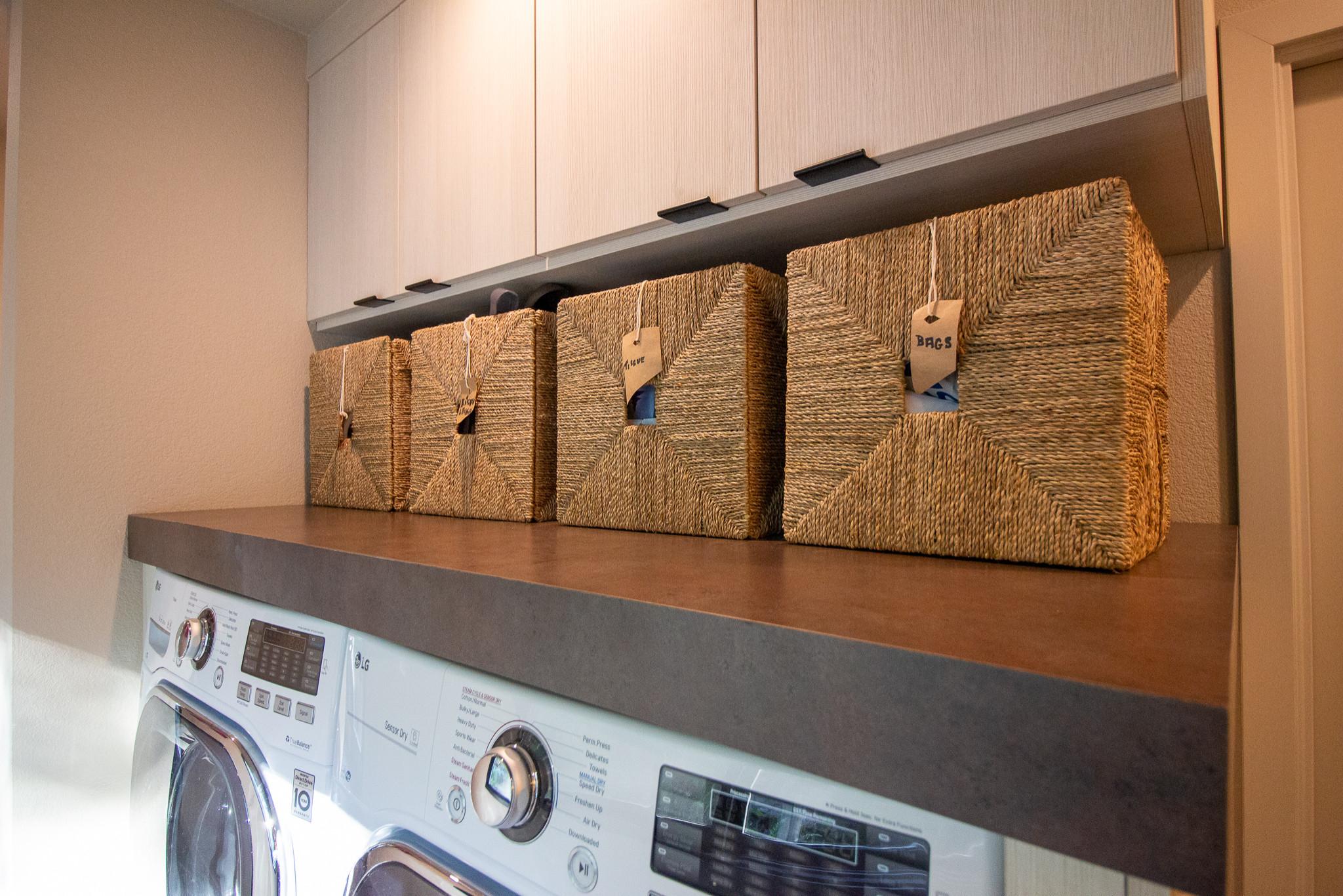 Contemporary Treehouse Laundry Room