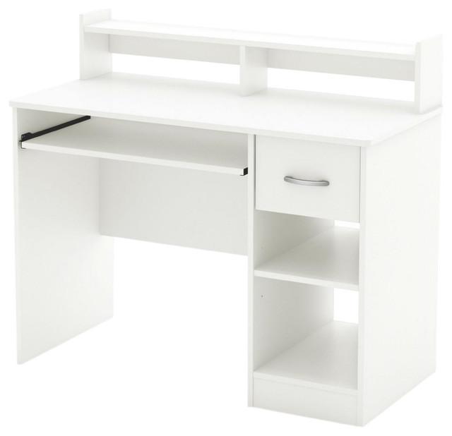 contemporary home office computer desk. contemporary home office computer desk, white wood finish contemporary-desks -and-hutches desk