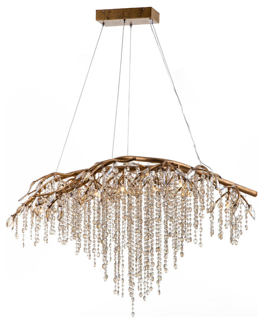 Branch Chandelier With Champagne Beaded