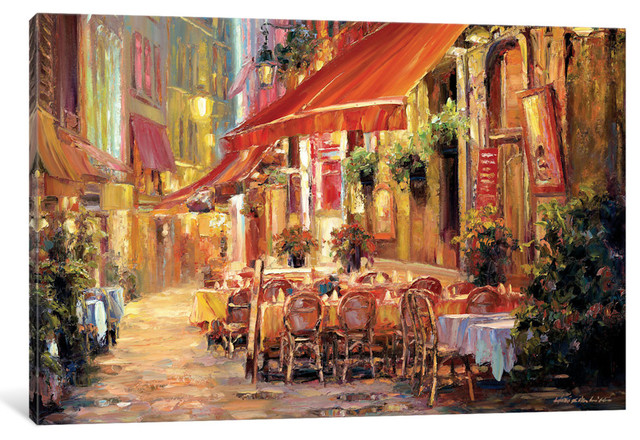 """Cafe in Light Gallery"" by Haixia Liu, 40x26x0.75"""
