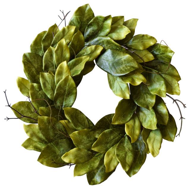 "Southern Magnolia Wreath 24""."