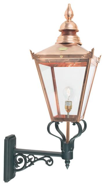 Contemporary Garden Wall Lights : Chelsea Grande Uplight Lantern - Modern - Outdoor Wall Lights - by Elstead Lighting Ltd