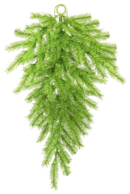 Lime/green Tinsel Teardrop Christmas 120 Tips, 36.