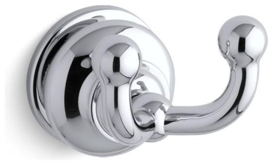 Kohler Fairfax Double Robe Hook, Polished Chrome
