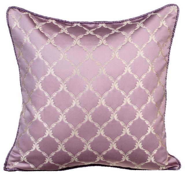Purple Throw Pillow Covers 16 X16 Silk Lavender Tea