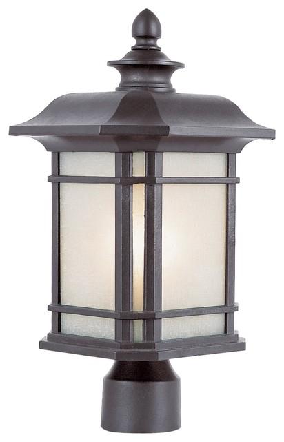 Trans Globe Lighting Pl-5823 Bk Outdoor Post Light Energy Efficient Outdoor.