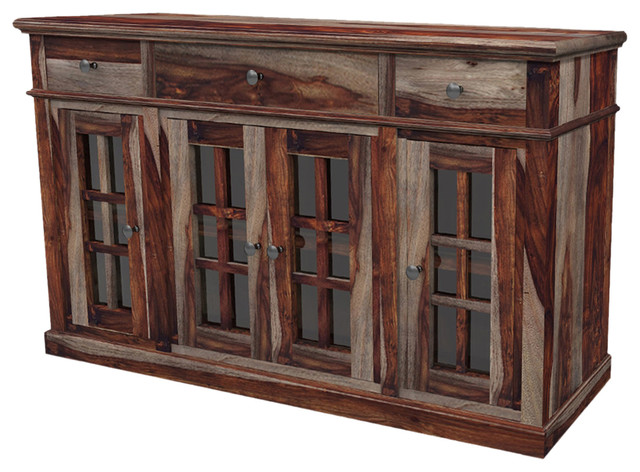 Sierra living concepts texas solid wood rustic sideboard