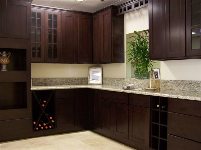beech espresso Kitchen Cabinets Home Design - Traditional - Columbus ...