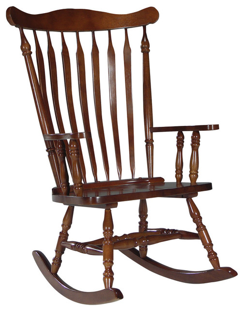 Stupendous Solid Wood High Back Rocking Chair In Cherry Finish Gmtry Best Dining Table And Chair Ideas Images Gmtryco
