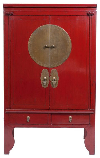 Chinese Red Lacquer Cabinet 1 000 On Chairish