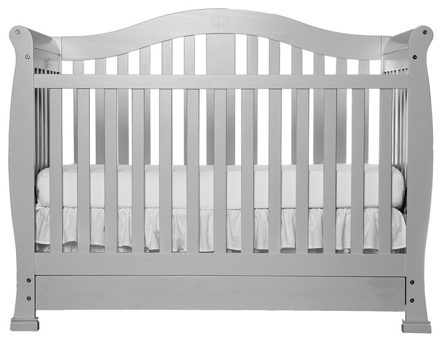 Dream On Me Addison 5-in-1 Convertible Crib With Storage, Mystic Gray
