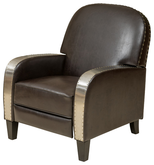 Oliver Brown Bonded Leather Recliner Chair Industrial