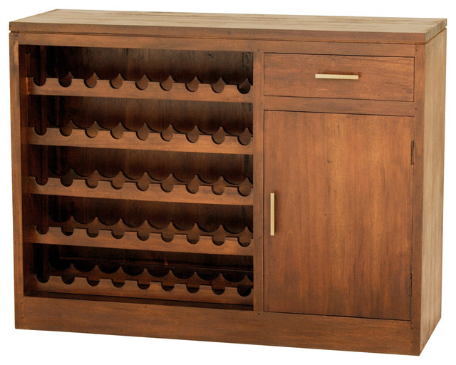 Fine Handcrafted Solid Mahogany Wood Calibri Wine Cabinet Transitional And Bar Cabinets By Exp