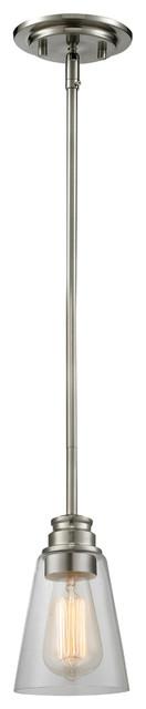 Annora 1-Light Mini Pendants, Brushed Nickel.
