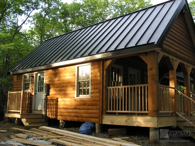 Charcoal Gray Metal Roofing Rustic Boston By