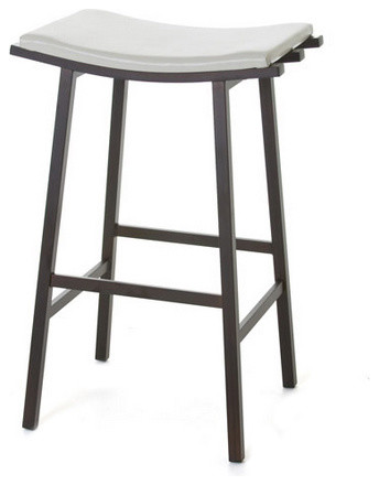 """Curved Seat Backless Non Swivel Stool, Counter Height 26"""""""