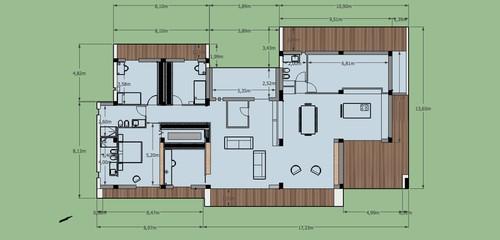 Progetto villa moderna su un livello for Progetto villa moderna