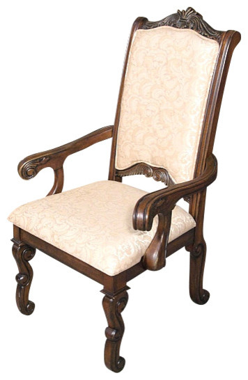 Solid Mahogany Upholstered Georgian High Back Occasional Arm Chair