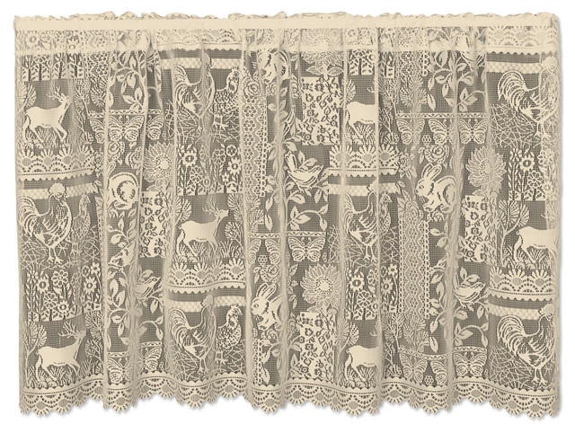 Woodland Patch Tier Rustic Curtains