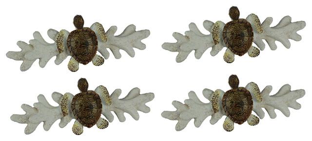 12 Cast Iron NAUTICAL Sea Shell Style Drawer Pull Barn Handle Door Handles Beach