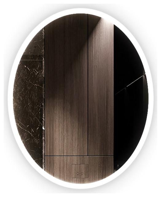 "Ellipse Oval LED Mirror, 20""x30""x1.75"""