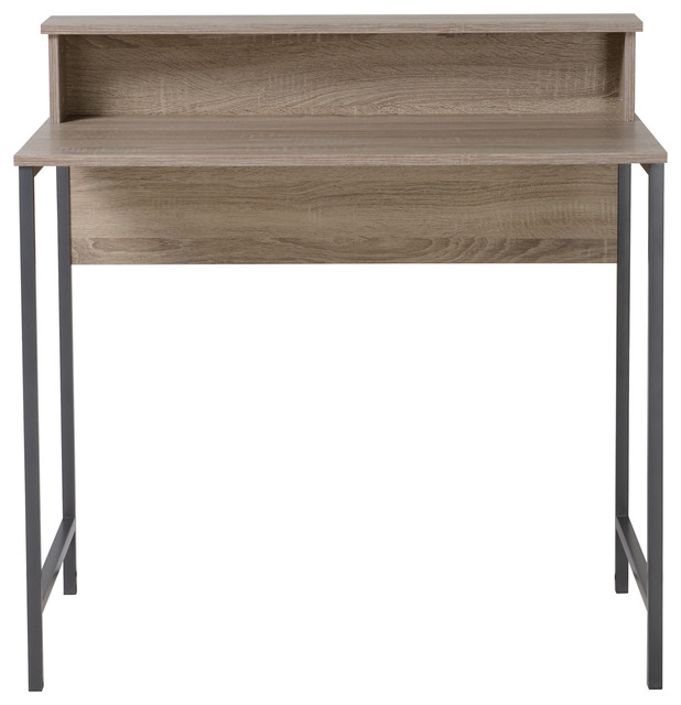 Homestar Titania Computer Desk With Hutch Reclaimed Wood