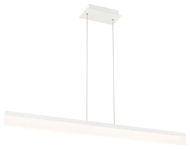 Eurofase DESIGNWL2017 Tunnel Large LED Linear Pendant, White Contemporary  Pendant Lighting