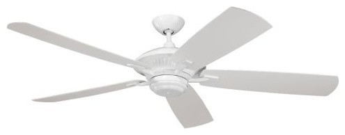 """Monte Carlo Cyclone 60"""" Wet Rated Indoor/outdoor Fan, White"""
