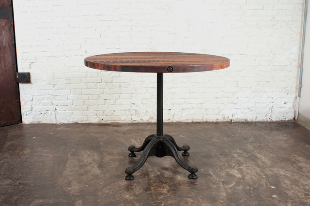 V42 Round Reclaimed Wood Bistro Table 25