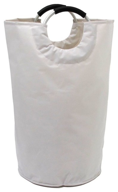 Soft Handle Chic Laundry Tote, White.