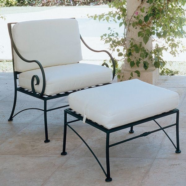 Sheffield Wrought Iron Lounge Chair Outdoor Chairs Chicago By Home Infatuation