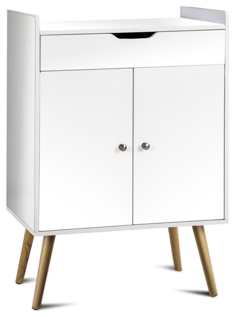 Costway Two Door Buffet Sideboard Storage Cabinet Console Table Sever Display Midcentury Buffets And Sideboards By Goplus Corp
