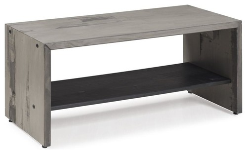 42 Solid Rustic Reclaimed Wood Entry Bench, Gray