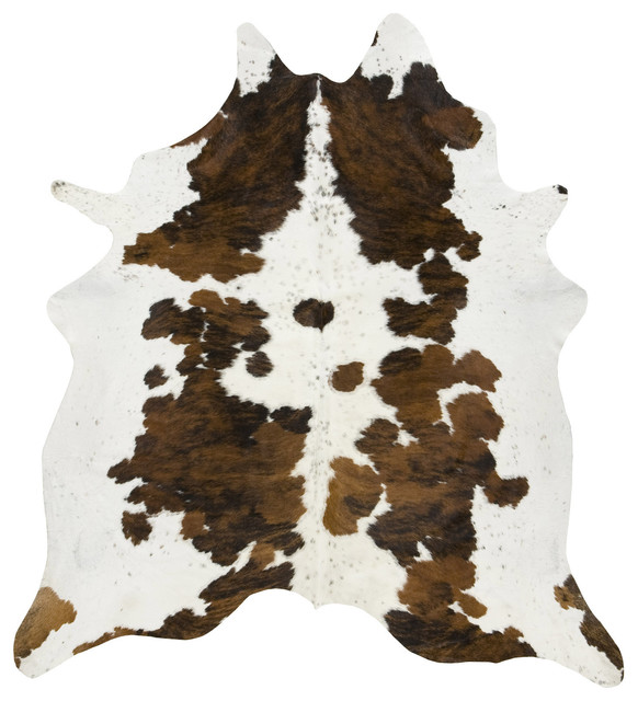 Tri Color Spotted Cowhide Rug, XL contemporary-novelty-rugs