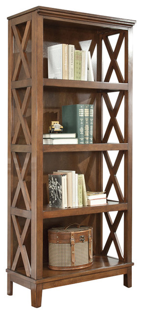 Charmant Ashley Burkesville Medium Brown Large Bookcase