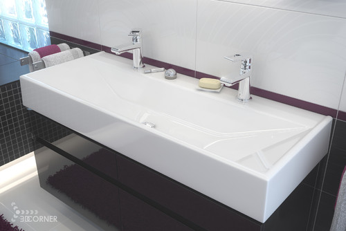 trough sink bathroom double faucet looking for a single sink with faucets any 24428