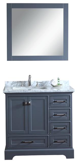 bathroom vanity set grey 36 inch transitional bathroom vanities