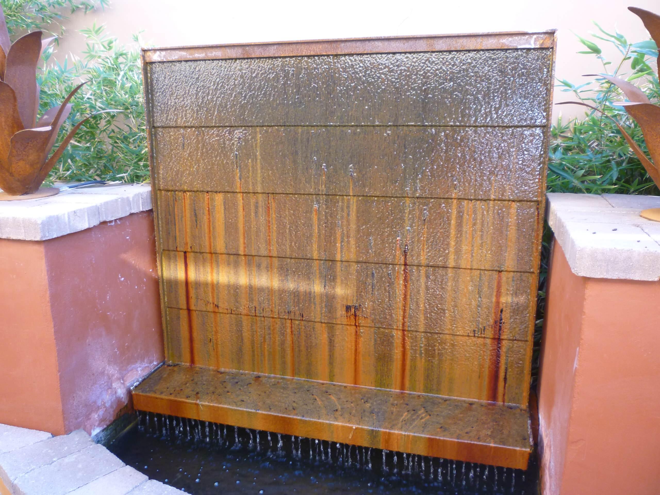 Cor-ten Steel Water Wall