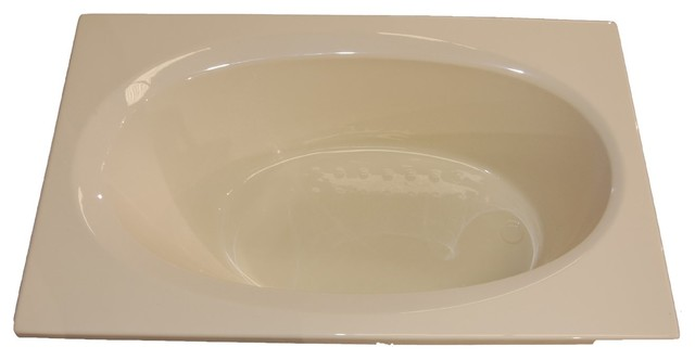 American Acrylic And Injection Oval Drop-In Air Jet Tub, Biscuit.