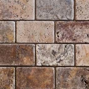 Cobblestone Backsplash how can i apply tile to this slanted backsplash area?