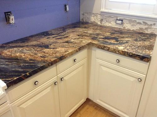 Backsplash Ideas For Magma Gold Counters U0026 White Cabinets?