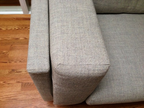 Bought This Two Nockeby Sofas And Like Them But Have Problem To Match. They  Are 9ft Wide. Color Is A Light Grey/beige. Rough Fabric.
